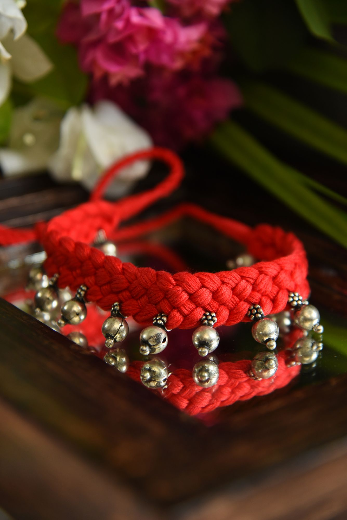 BEADS IN RED