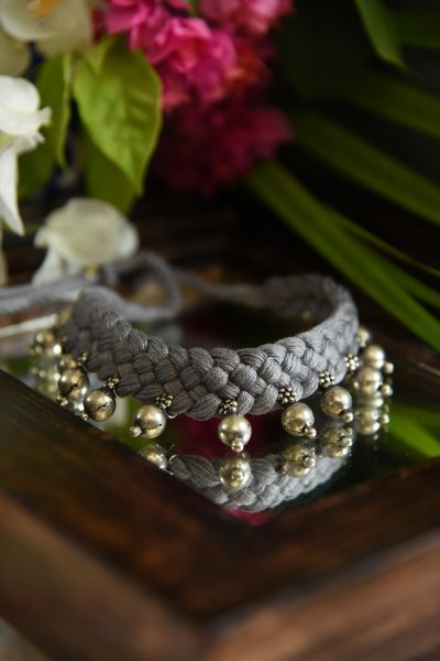 BEADS IN GREY
