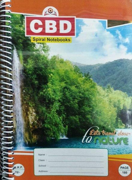 CBD Spiral Notebook A4 size Single Line Soft Cover 280 page
