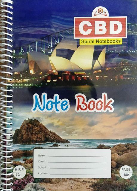 CBD Spiral Notebook 2 Sets A4 size Single Line Soft Cover