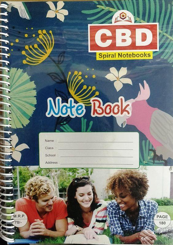 CBD Spiral Notebook A4 size Single Line Soft Cover 380 page