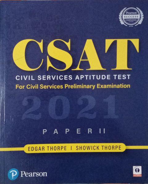 Pearson CSAT Civil Service Aptitude Test 2020 Paper 2 By Edgar Thorepe Showick Thorpe