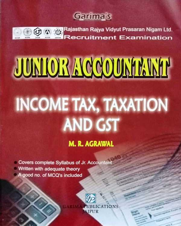 Garima Junior Accountant Income Tax Taxation And GST By MR Agrawal