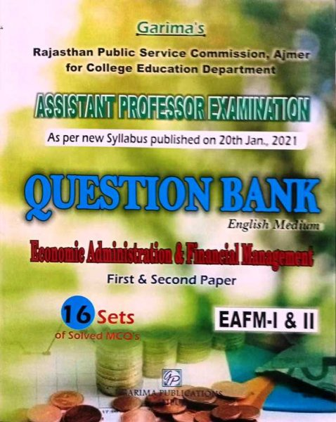 Garima Assistant Professor Question Bank First & Second Paper 16 Sets Of Solved MCQs