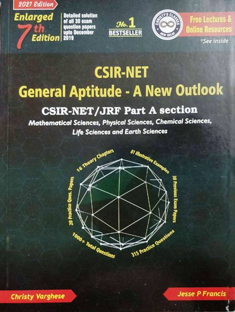 CHRISTY VARGHESE CSIR NET GENERAL APTITUDE A NEW OUTLOOK 7th edition