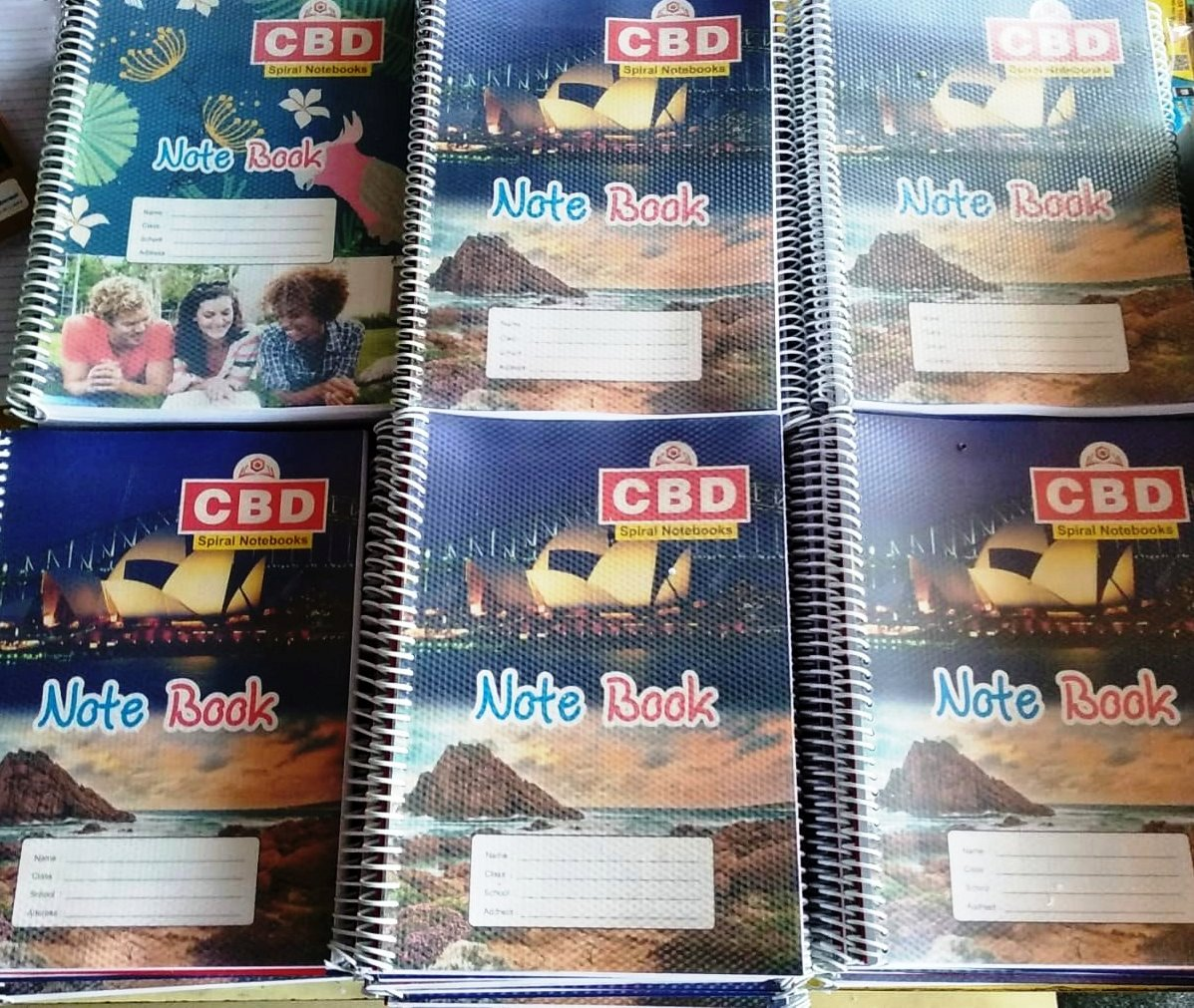CBD Spiral Notebook Single Line Soft Cover A4 size