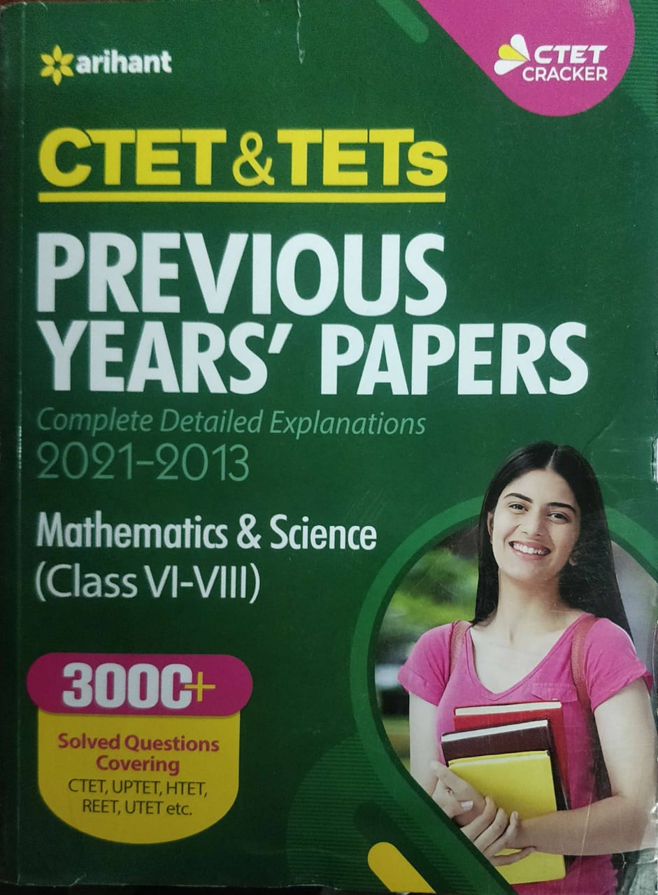 Arihant Ctet Previous Years papers Mathematics and Science