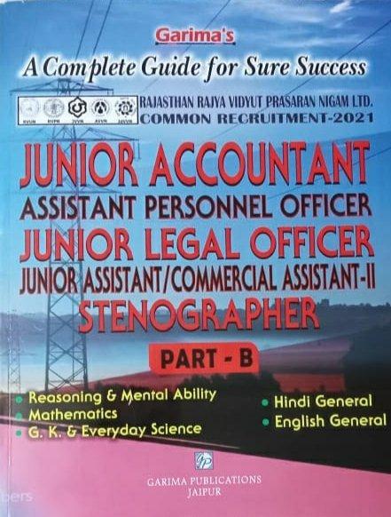 Garima Junior Accountant Junior Legal Officer Stenographer Part B