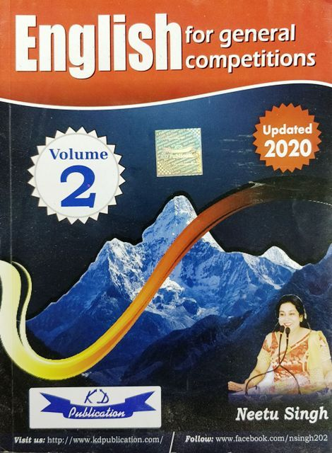 KD English for General Competition Volume 2 by Neetu Singh