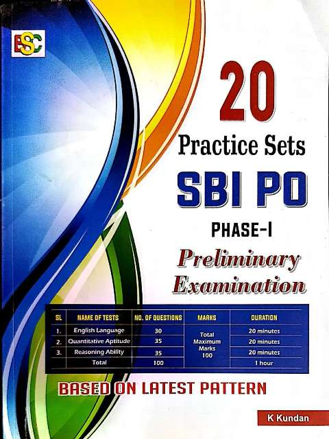BSC SBI PO PHASE-1 PRE 20 PRACTICE SETS