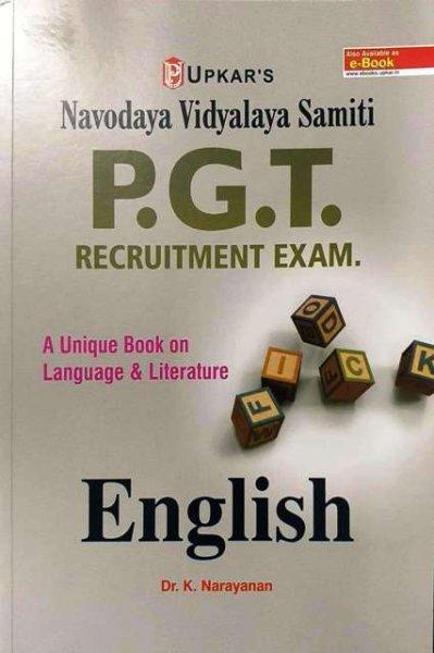 UPKAR NAVODAYA VIDYALAYA SAMITI NVS PGT ENGLISH BY Dr. K. NARAYANAN