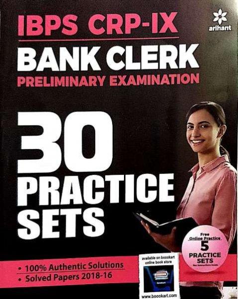 ARIHANT IBPS BANK CLERK PRELIMINARY EXAMINATIONS 30 PRACTICE SETS (e)