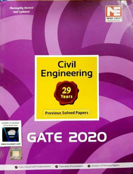 MADE EASY GATE CIVIL ENGINEERING PREVIOUS YEAR SOLVED PAPER ENTRANCE EXAM BOOK 12th edition