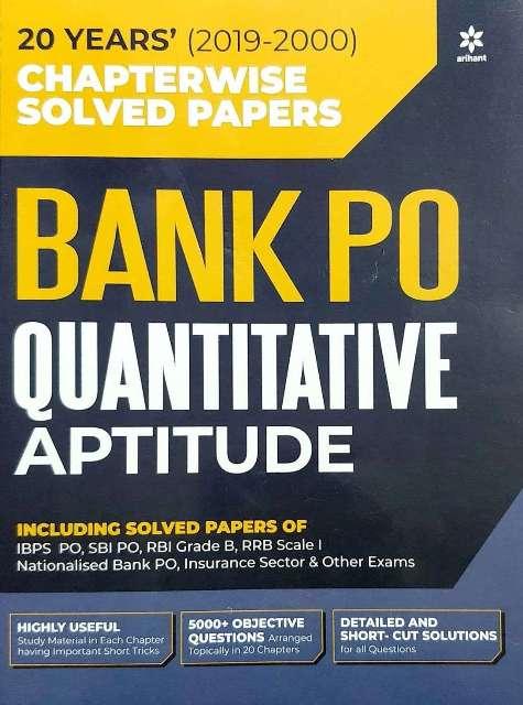 Arihant Bank PO Quantitative Aptitude Chapterwise Solved Paper