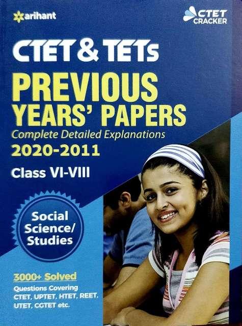 ARIHANT CTET PREVIOUS YEARS PAPER CLASS 6 to 8 SOCIAL SCIENCE STUDIES