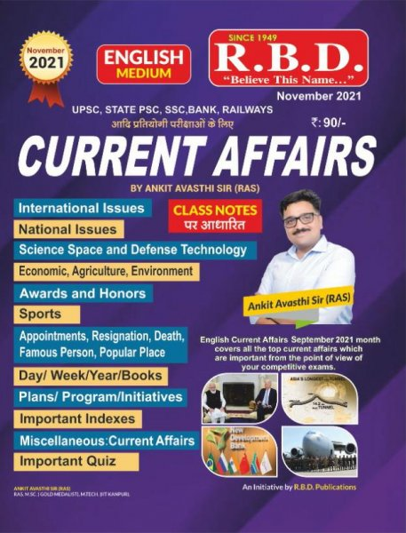 RBD Current Affairs by Ankit Avasthi Sir October 2021 english edition Ank 3