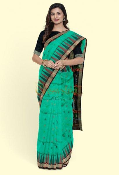 Ocean green Dolabedi  silk saree