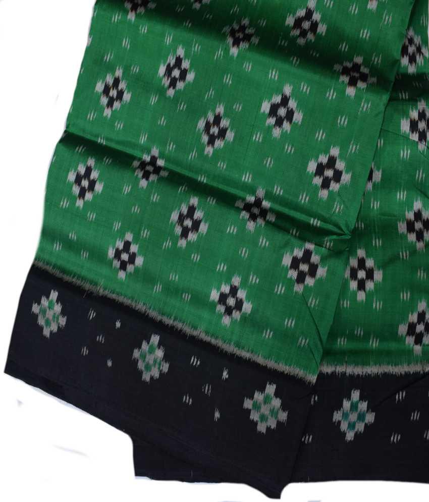 Green Khandua Silk Saree