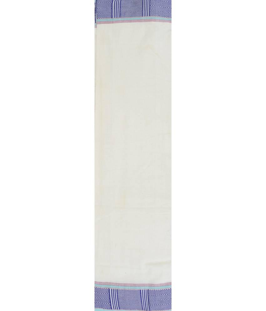 White Dongria Cotton Saree