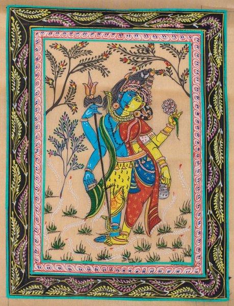 Ardhanareeswar Pattachitra