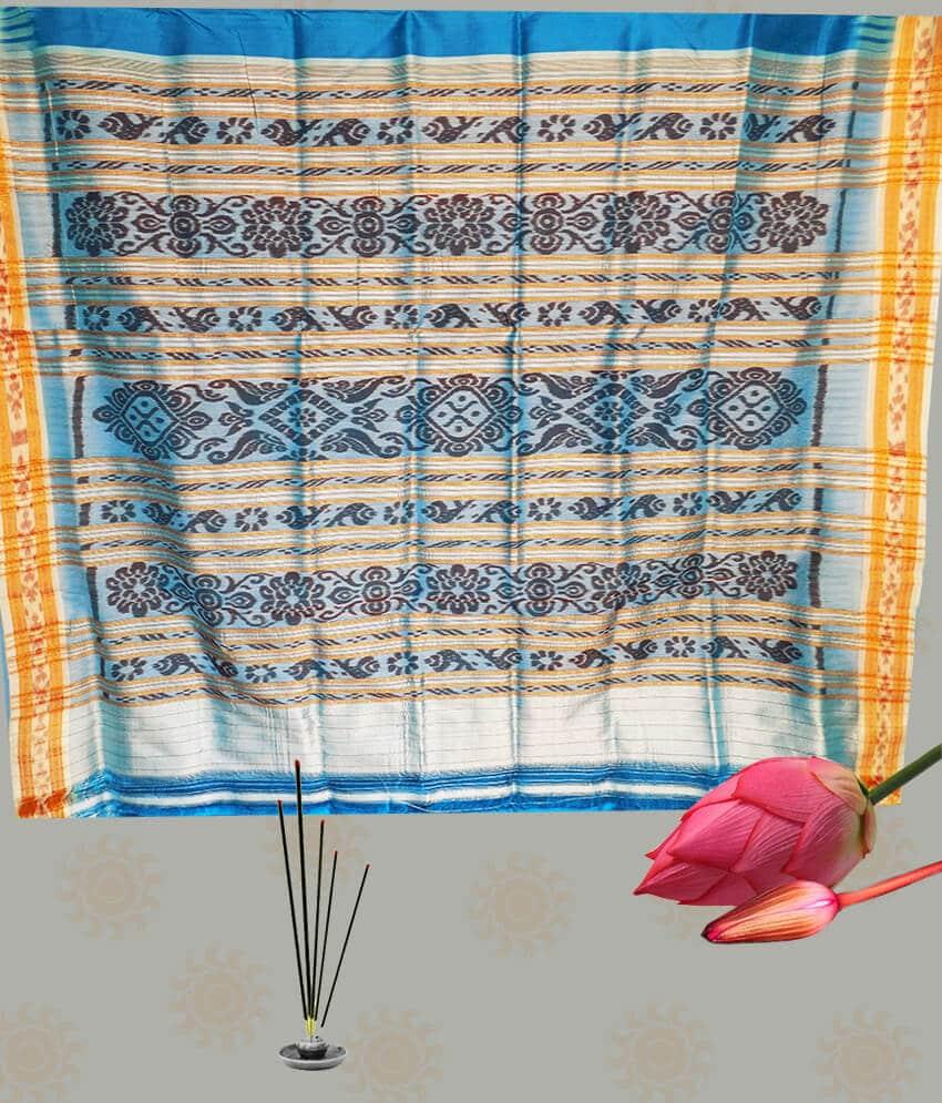 Blue Khandua Patta Saree