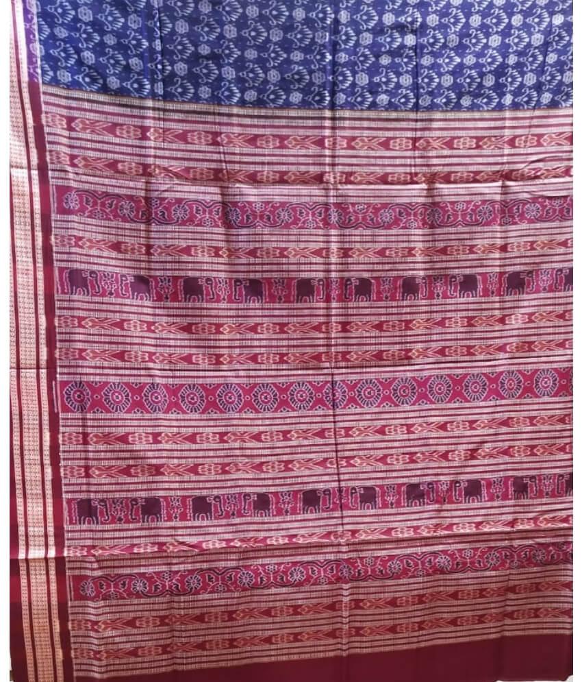 Blue Sambalpuri Saree