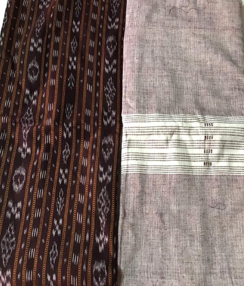 Coffee Color Sambalpuri Suit Piece