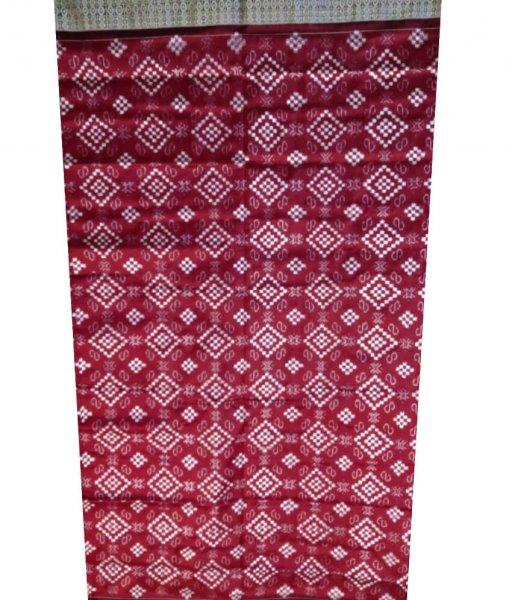Red Sambalpuri Silk Saree