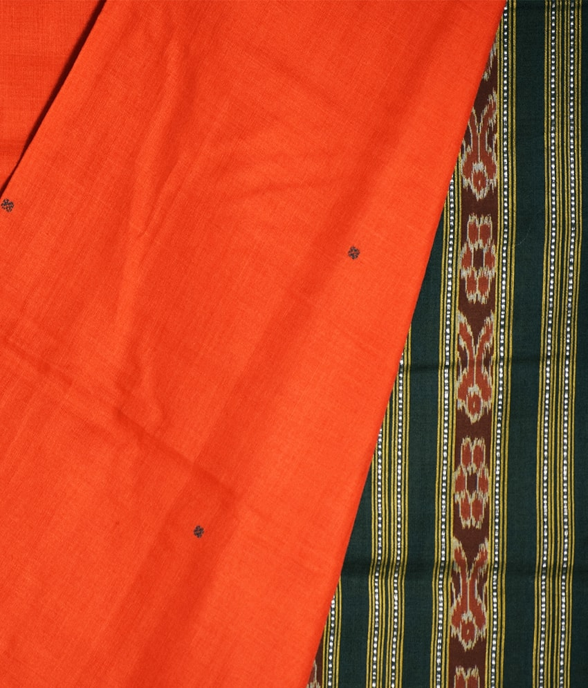 Red Khandua Cotton Saree
