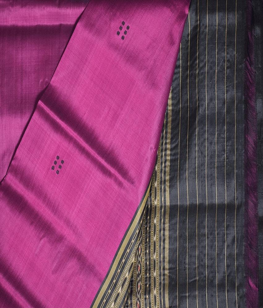 Purple Khandua Silk Saree