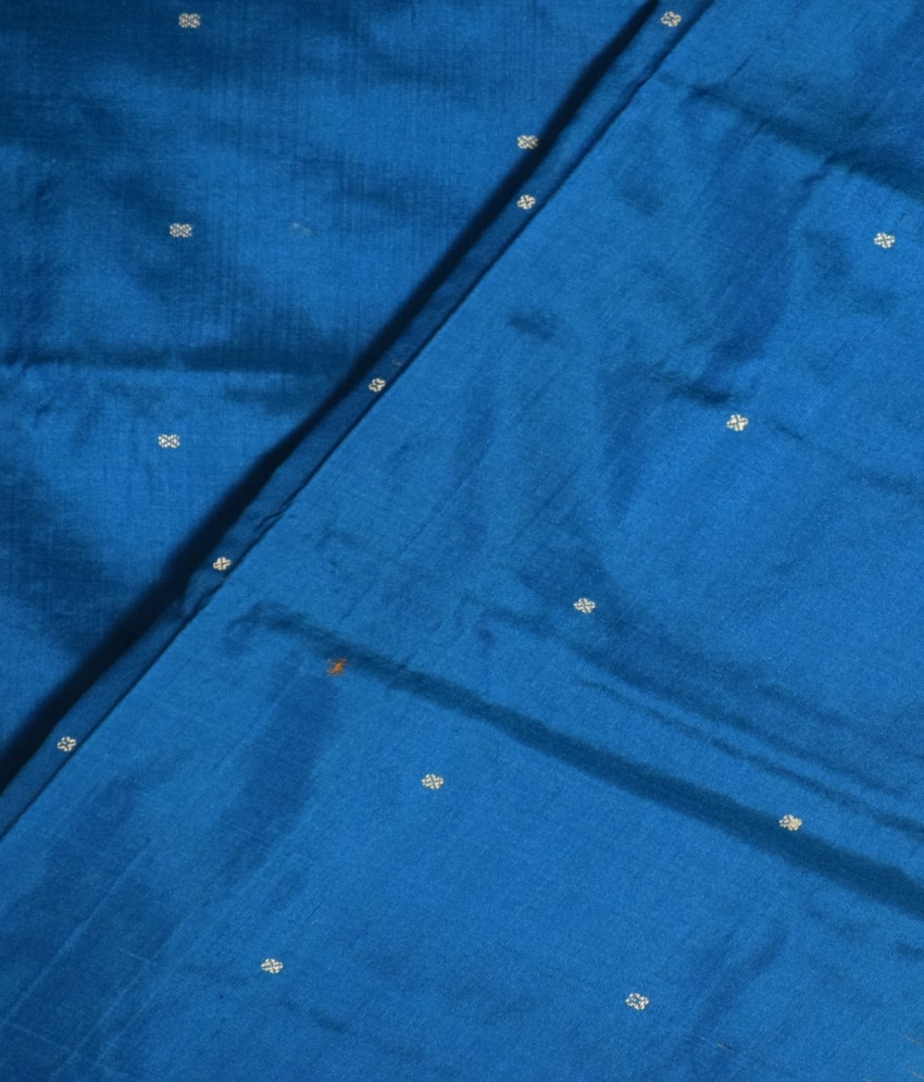 Blue & Golden Bomkai Silk Saree