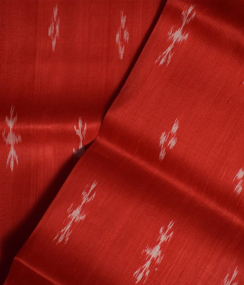 Red Khandua Silk Saree