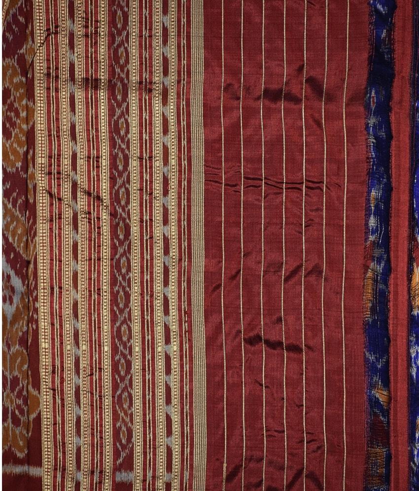 Blue Tribal Khandua Silk Saree