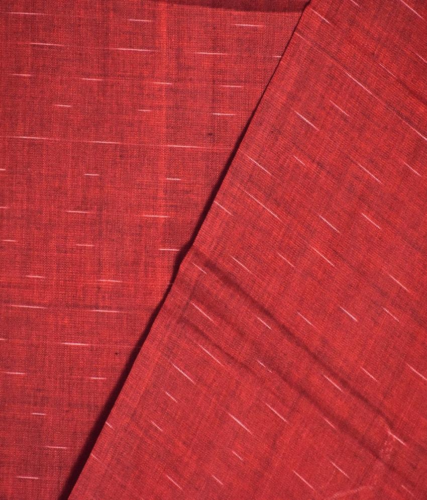 Red & Green Jharana Cotton Saree