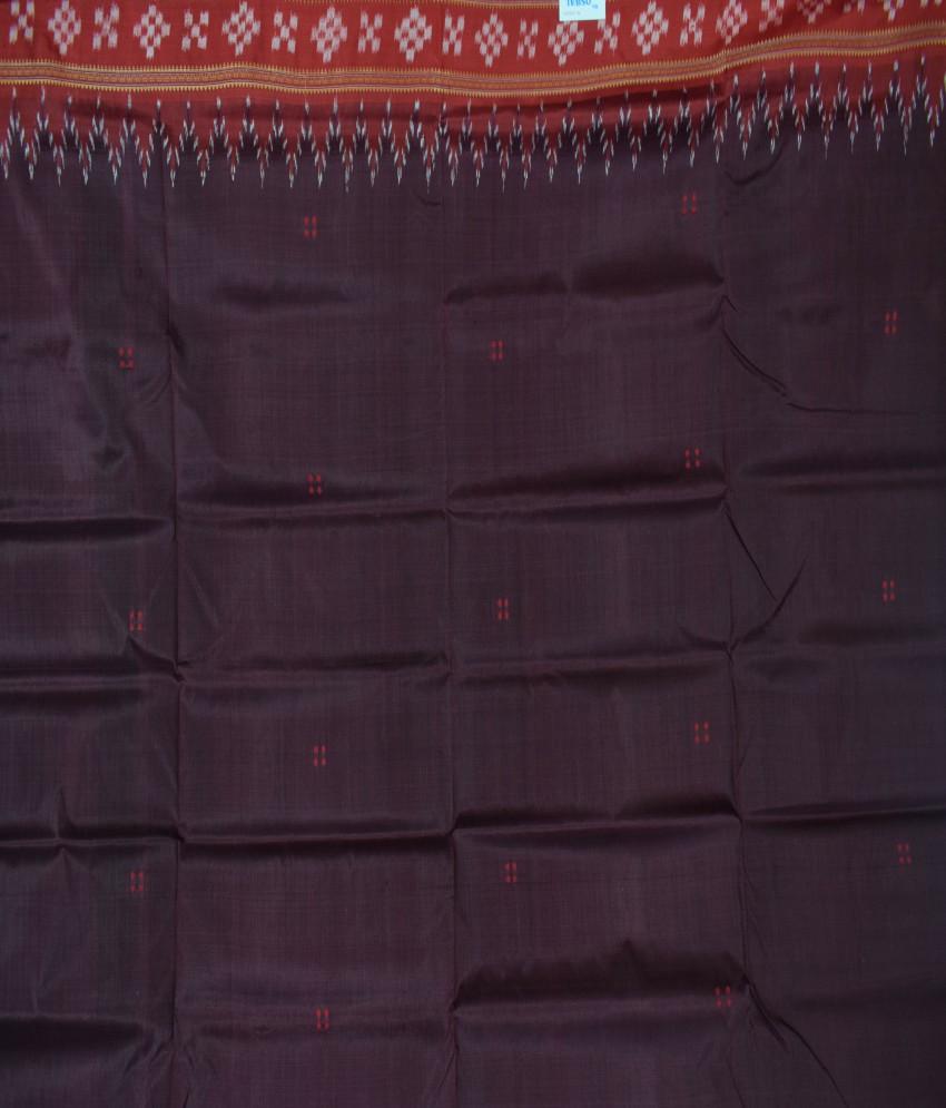 Brown Khandua Silk Saree