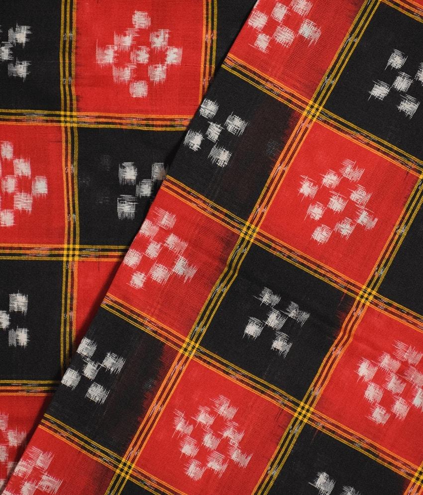 Red & Black Pasapali Saree