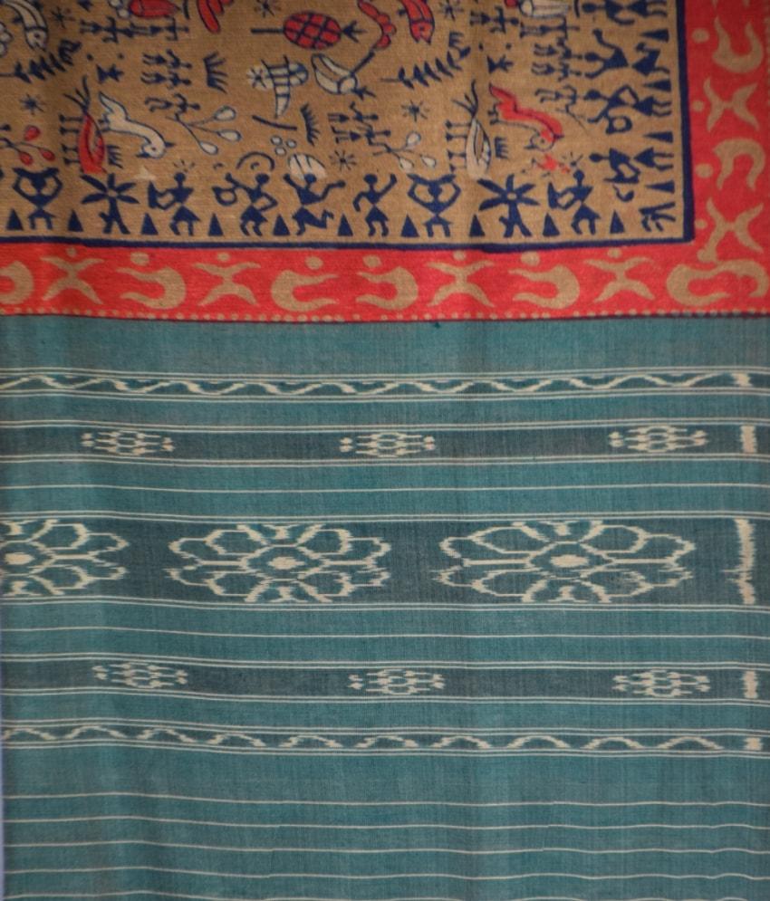 Printed Tussar Silk Dupatta