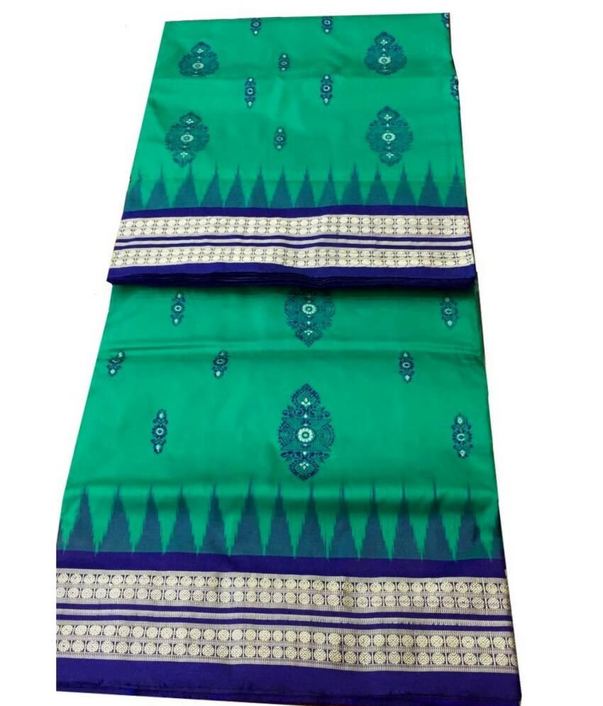 Green Sambalpuri Silk Saree