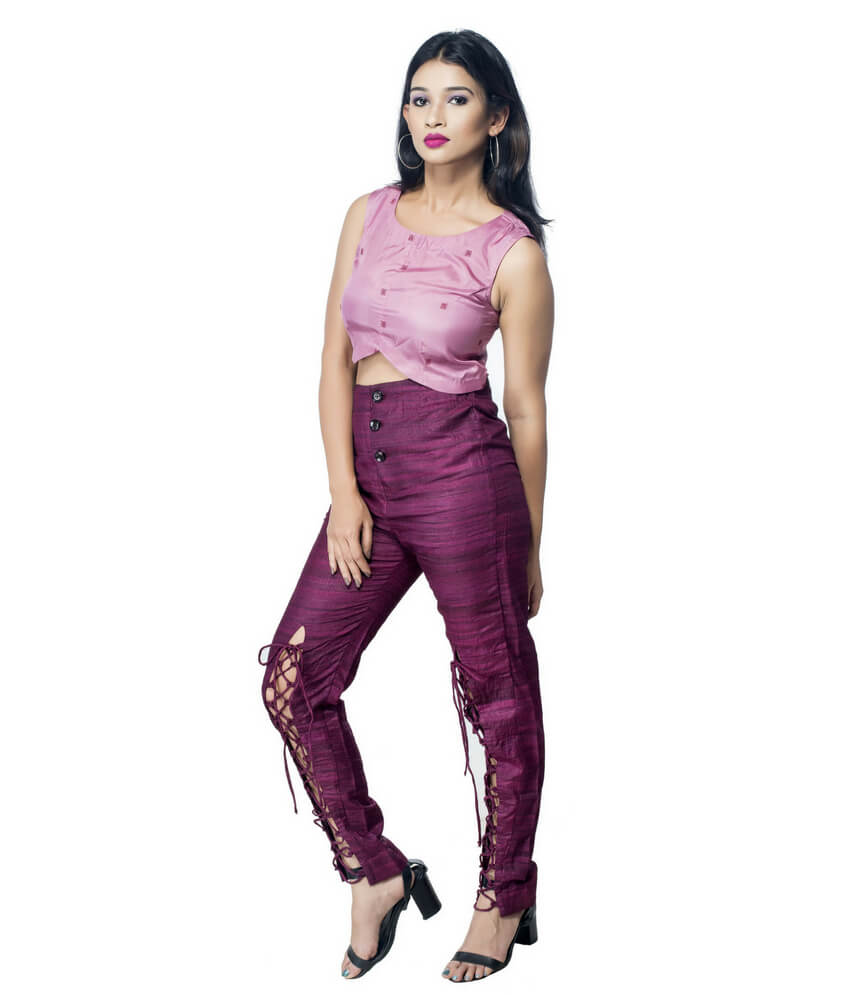Ikat Highwaisted Tie-Up Pant