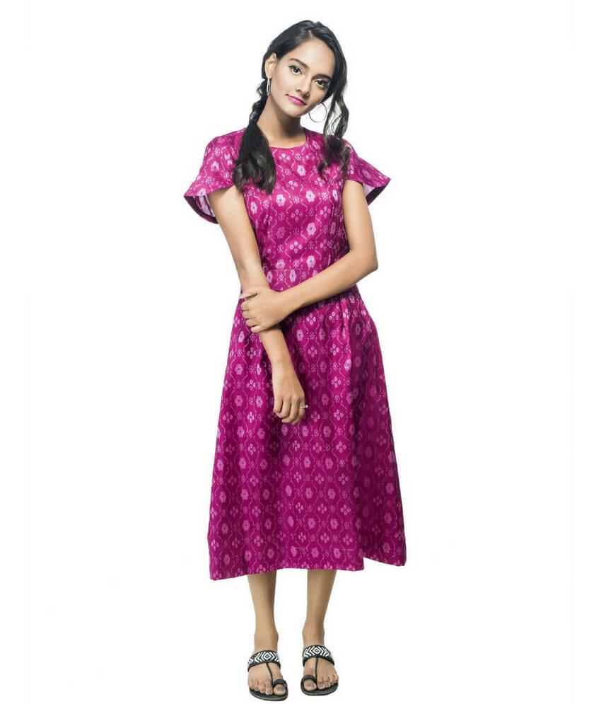 Ikat Mid-Length Bandha Dress