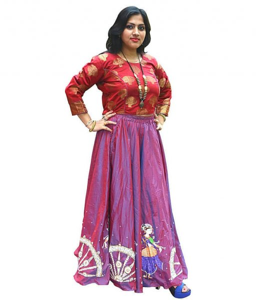 Traditional Nartaki Pattachitra Painting Gown