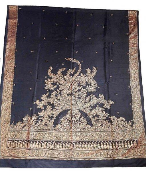 Black Silk Patachitra Saree