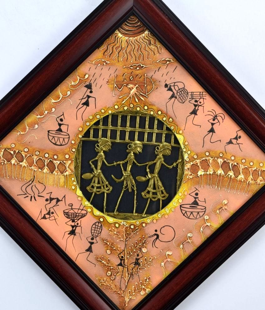 Saura painting With Dhokra Work