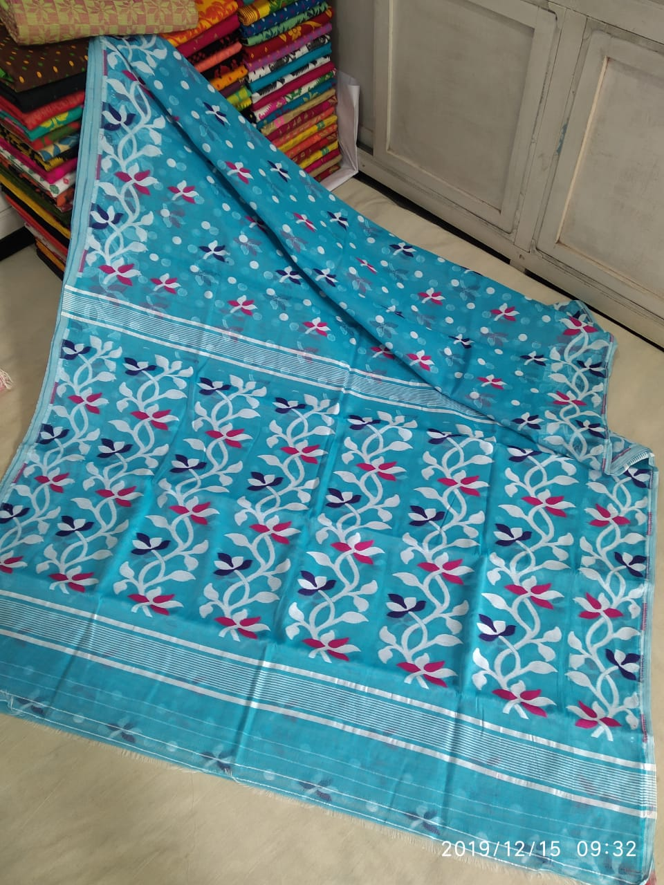 Dhakai Jamdani Multi  Colour & Design Saree