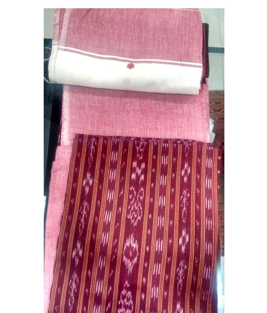 Maroon Sambalpuri Suit piece