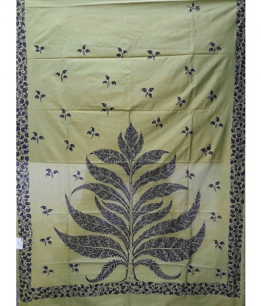 Pattachitra Tree Painting On Silk Saree