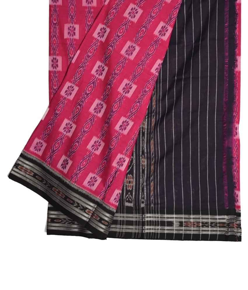 Pink Khandua Cotton Saree