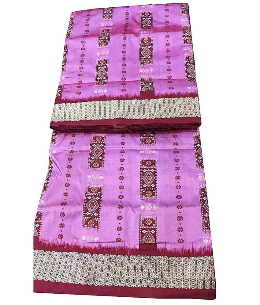 Pink Sambalpuri Silk Saree