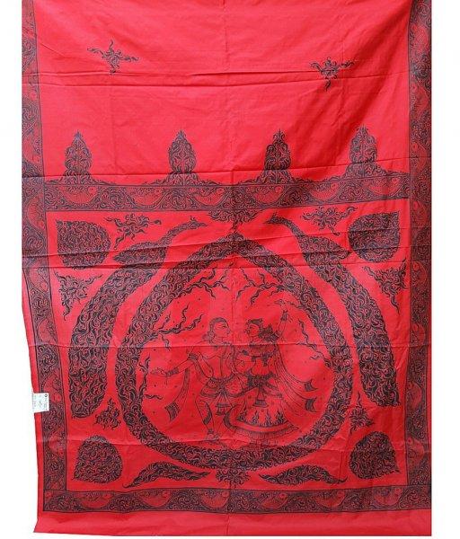 Red Pattachitra Silk Saree