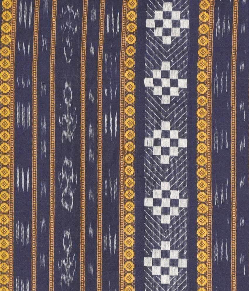 Blue Ikat Dress Material